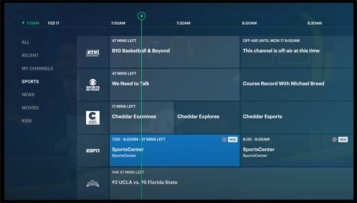 streaming on Hulu + Live TV