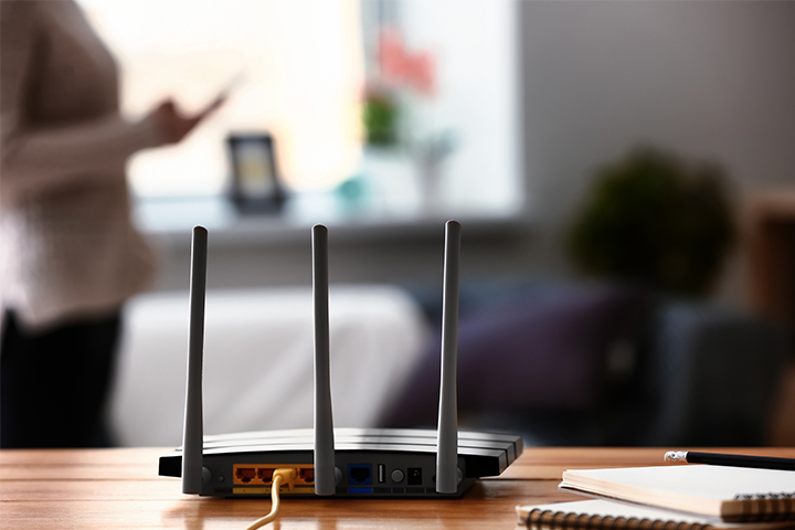 WiFi router on a table