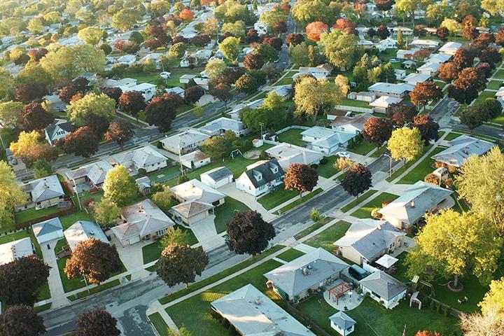 birds-eye-view-of-suburban-neighborhood