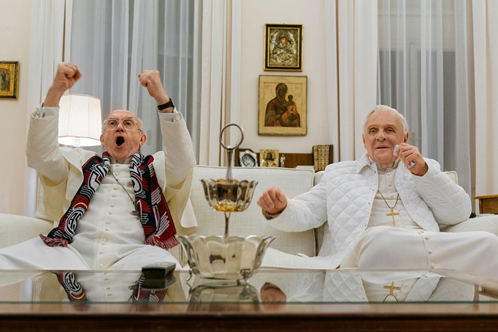 The Two Popes streaming on Netflix
